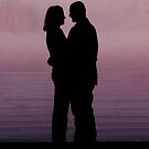 Pink Silhouetted Love by Taylor Sawyer