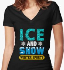 Winter Sports, Ice & Snow? Women's Fitted V-Neck T-Shirt