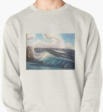 Oil painting seascape wave Pullover