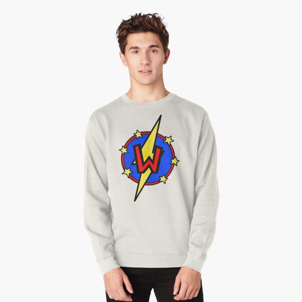 Cute Little SuperHero Geek - Super Letter W Pullover Sweatshirt