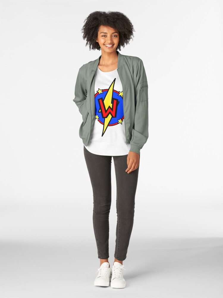 Alternate view of Cute Little SuperHero Geek - Super Letter W Premium Scoop T-Shirt
