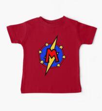 Cute Little SuperHero Geek - Super Letter M Baby T-Shirt