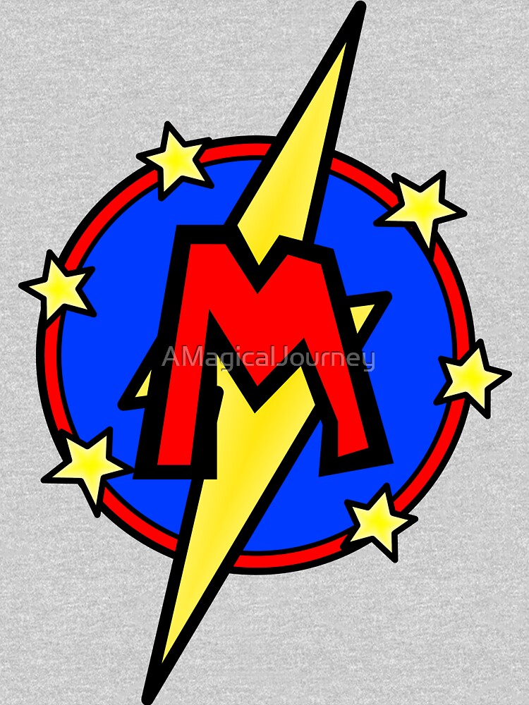 Cute Little SuperHero Geek - Super Letter M by AMagicalJourney