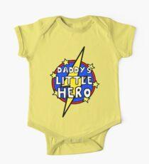 Daddy's Cute Little SuperHero Geek One Piece - Short Sleeve
