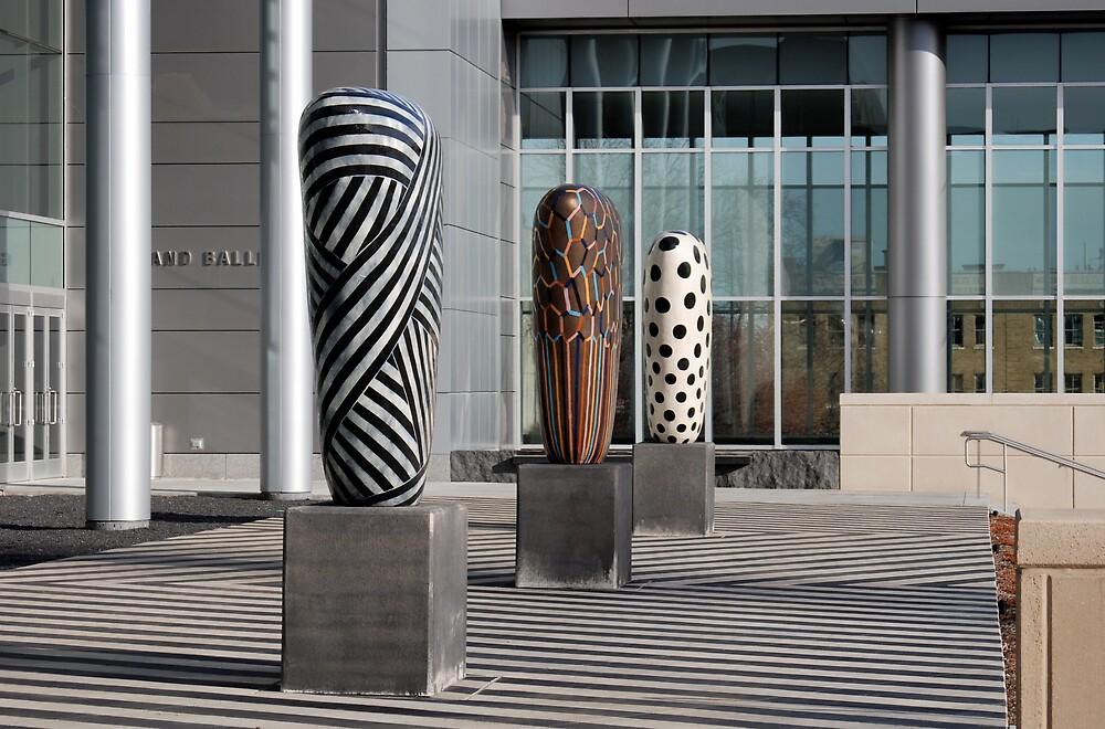 Three Sculptures - Grand Ballroom by Robert Baker