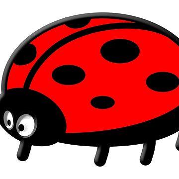 LADYBUG, Cartoon, LADYBIRD, Lady Bird, Lady Bug,  by TOMSREDBUBBLE