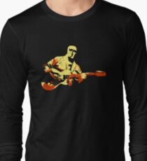Contemporary Stylized Guitar Musician  Long Sleeve T-Shirt