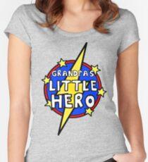 Grandpa's Cute Little SuperHero Geek Women's Fitted Scoop T-Shirt