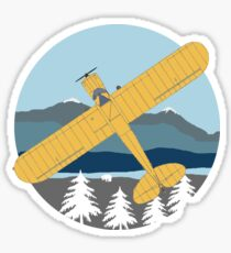 Cub Bushflying Retro Vintage Style  Design Sticker