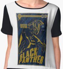 Textured The Black Panther Comic Book Design  Chiffon Top