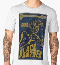 Textured The Black Panther Comic Book Design  Men's Premium T-Shirt