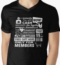 Funny Sales Discount Infographics  Men's V-Neck T-Shirt