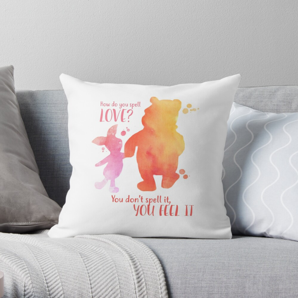 """""""How Do You Spell Love? """" Throw Pillow By Abbyjane325"""
