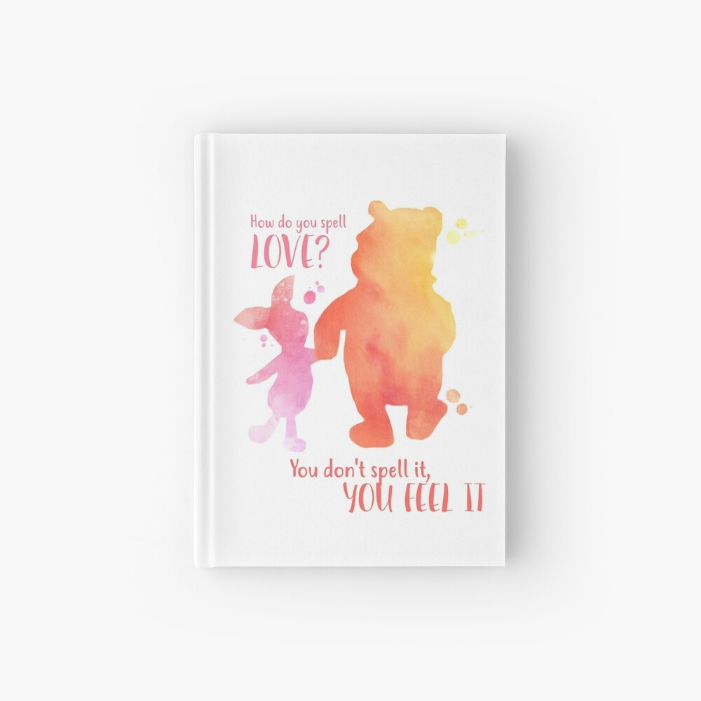 """How Do You Spell Love? "" Hardcover Journal By Abbyjane325"
