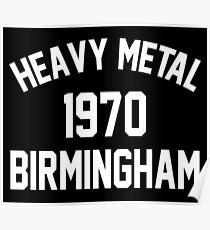 Heavy Metal 1970 Birmingham Poster