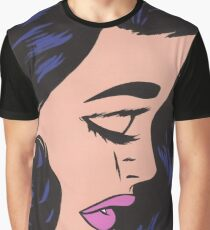Black Haired Comic Woman Graphic T-Shirt