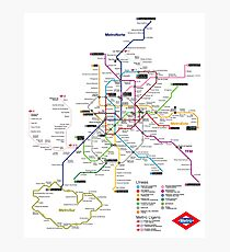 World metro map wall art redbubble madrid metro map spain photographic print gumiabroncs Images