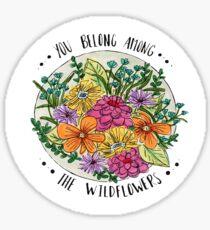 Wildflower Quote Sticker