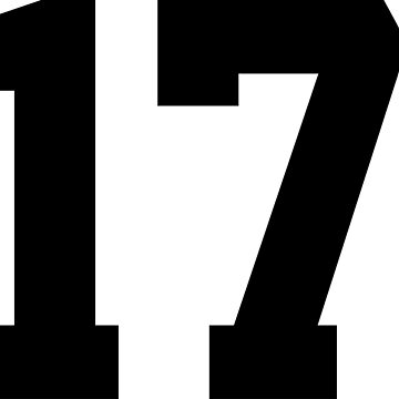 17. Number seventeen on shirts and stuff. by Swaygo