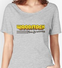 Woodstock, New Brunswick | Retro Stripes Women's Relaxed Fit T-Shirt