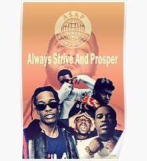 Asap Mob Retro Poster