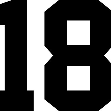 18. Number eighteen on shirts and stuff. by Swaygo
