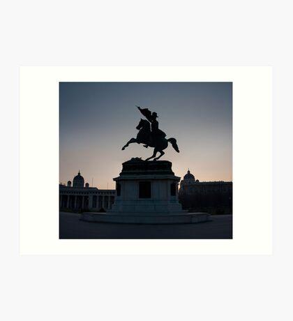 Vienna Heldenplatz - a historic square Art Print