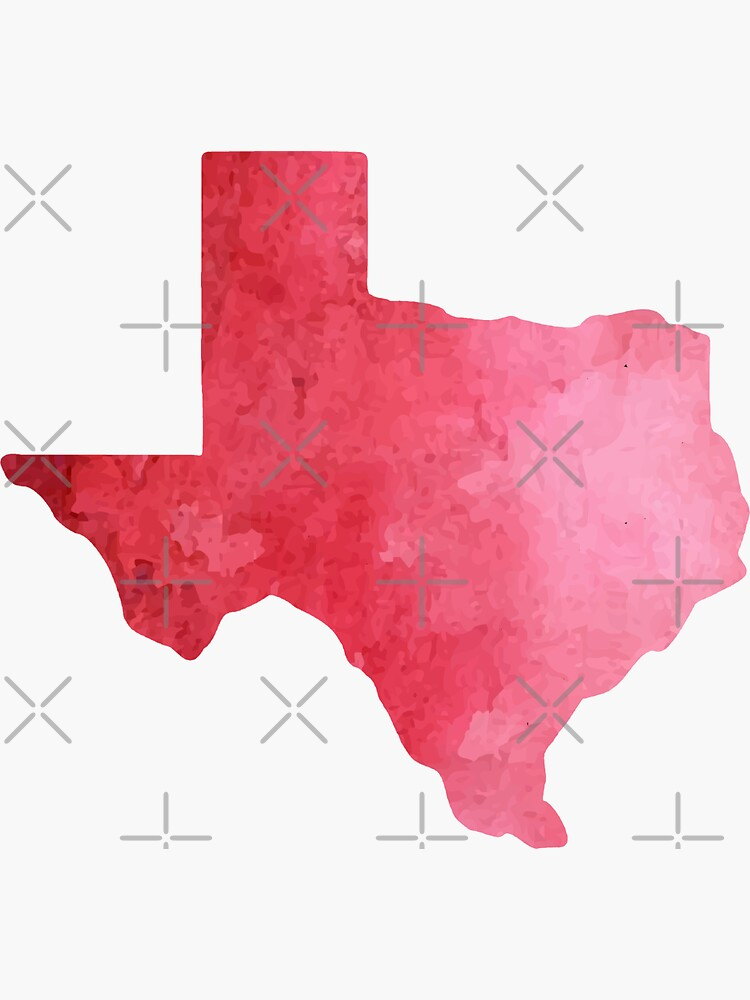 Red Watercolor Texas by kevgib