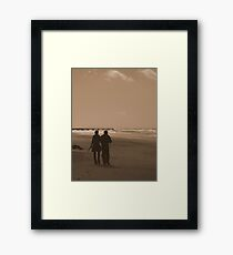 Views From The Beach : Shadow Of Our Love... Framed Print