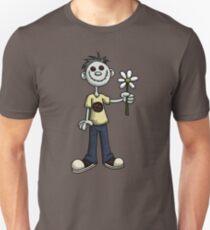 Creepy Boy with Flower T-Shirt