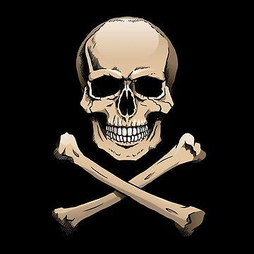 Colored skull with crossbones (Jolly Roger) by Noedelhap