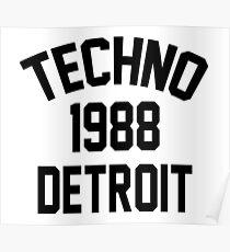 Techno 1988 Detroit Poster