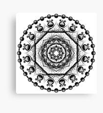 Mandala 002 Black Edition Canvas Print