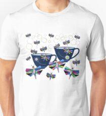 Sunday Tea And Butterflies Tea Cups Unisex T-Shirt
