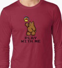8-Bit Bear - Play with Me Long Sleeve T-Shirt