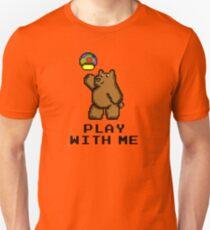 8-Bit Bear - Play with Me Unisex T-Shirt
