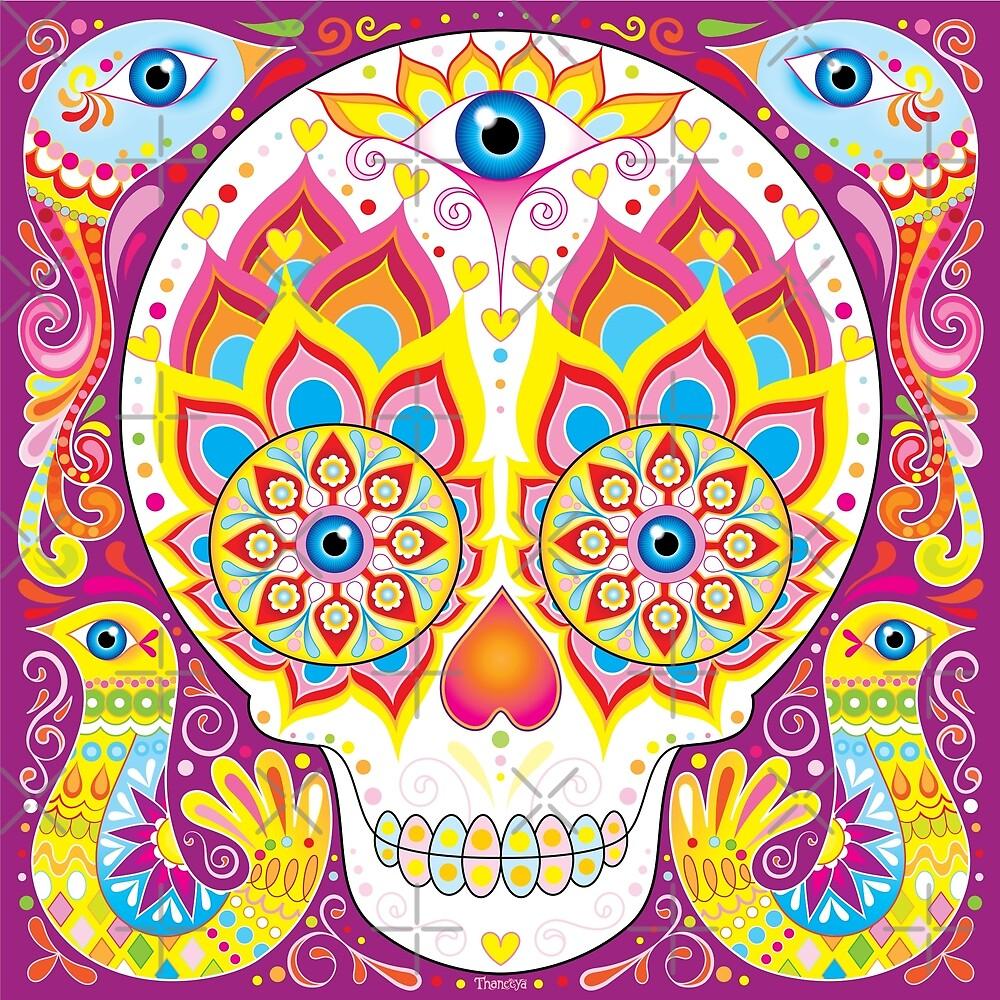 Cute Sugar Skull Day of the Dead Art\