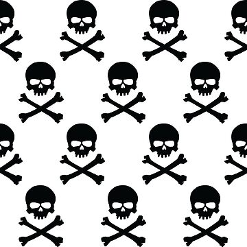 Black and white skull and crossbones pattern by Noedelhap
