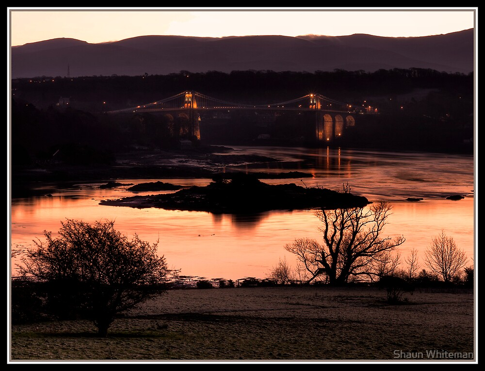 Menai bridge from afar by Shaun Whiteman