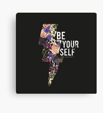Lightning with roses. Be your self slogan Canvas Print