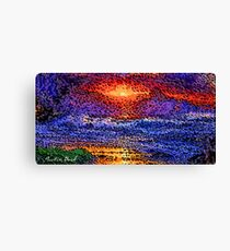 Picture 2015061 Justin Beck wave sunset Canvas Print
