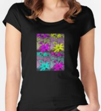 Four Flowers T-Shirt Women's Fitted Scoop T-Shirt