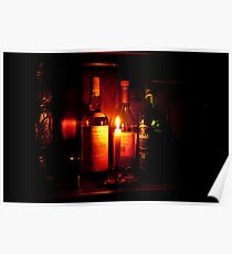 Whisky & Candle Just Glow Together Poster