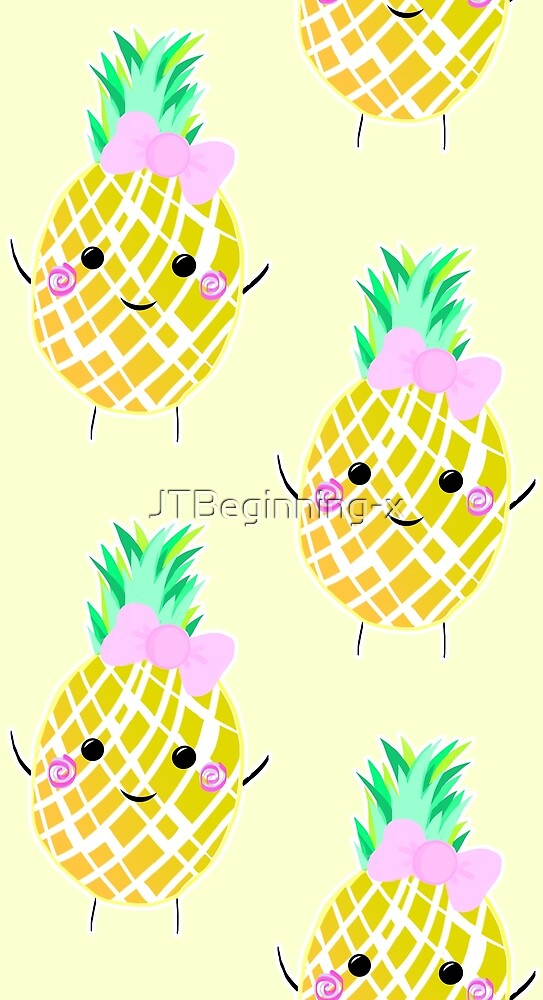 Cute Pineapple Pattern by JustTheBeginning-x .com