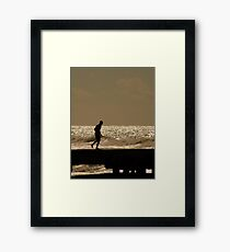 Views From The Beach : The Runner Framed Print