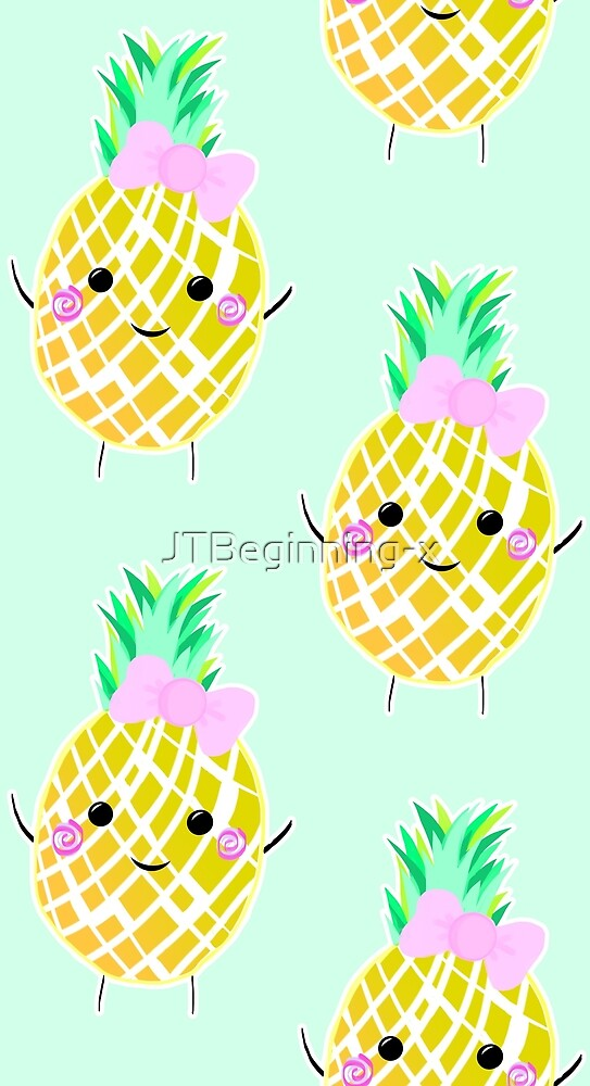 Cute Pineapple Pattern in Green by JustTheBeginning-x (Tori)