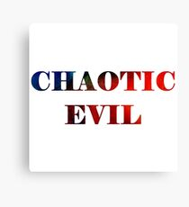 Chaotic Evil Canvas Print