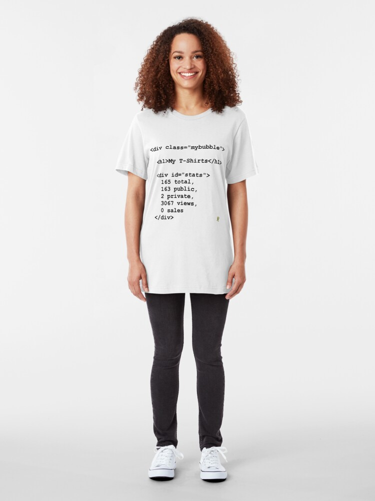 """Alternate view of <div class=""""mybubble""""> Slim Fit T-Shirt"""