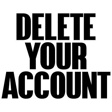Delete your account by desexperiencia