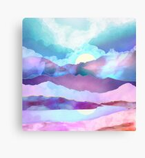 Opal Mountains Canvas Print